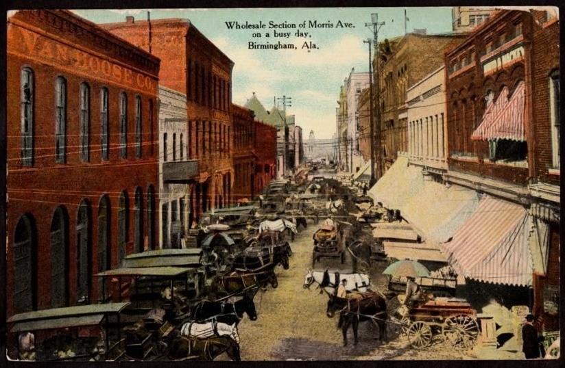 1908 postcard of Morris Avenue