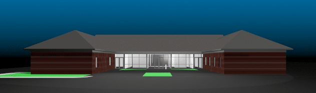 rendering of the front of the Way Station