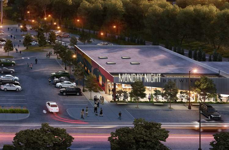 A rendering of the new Monday Night Brewpub