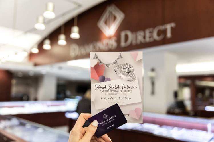 Gift card for Diamonds Direct and flyer