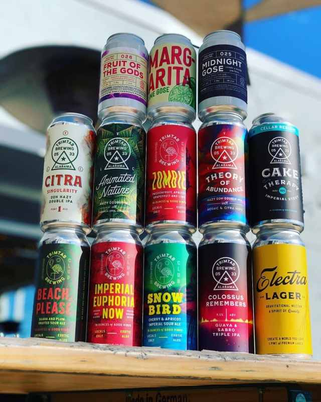 Birmingham, TrimTab, TrimTab Brewing Co, beer, beer cans, local art, artist, art, beer can art