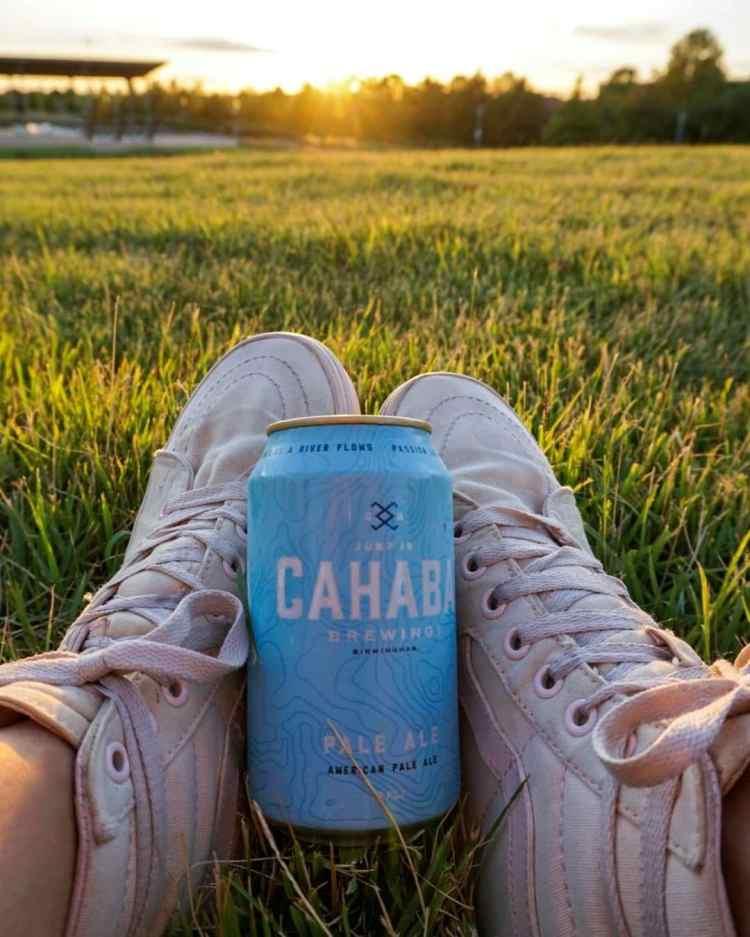 Birmingham, Cahaba Brewing Company, beer, beer cans, local art, artist, art, beer can art
