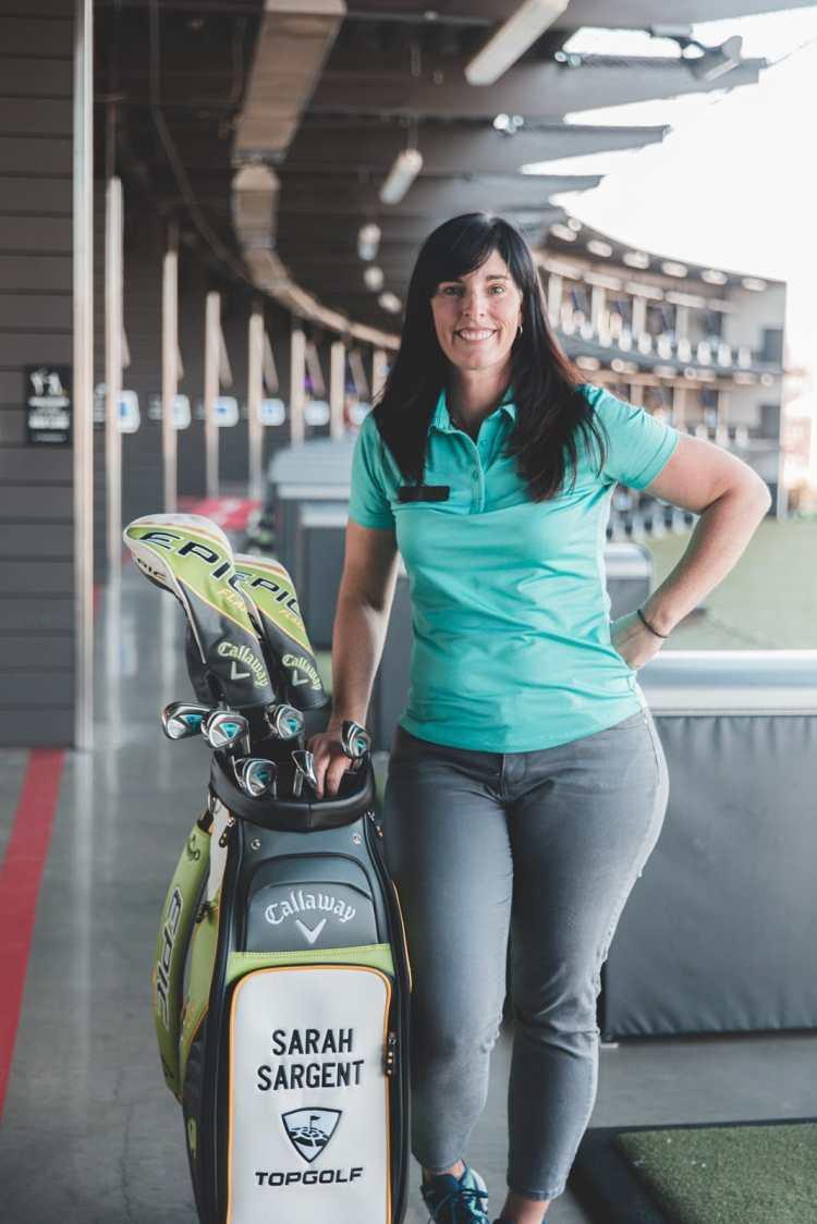 Birmingham, Topgolf Birmingham, Topgolf, Topgolf lessons, golf lessons, pro golfers, Sarah Sargent