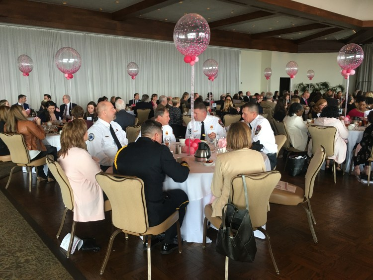 Firefighters at BCRFA lunch.