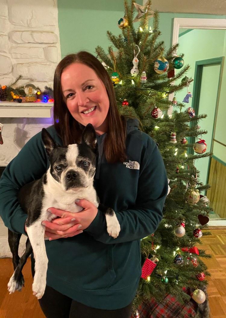 Katie Weiland with dog