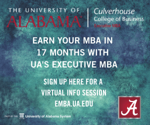 University of Alabama Executive MBA program