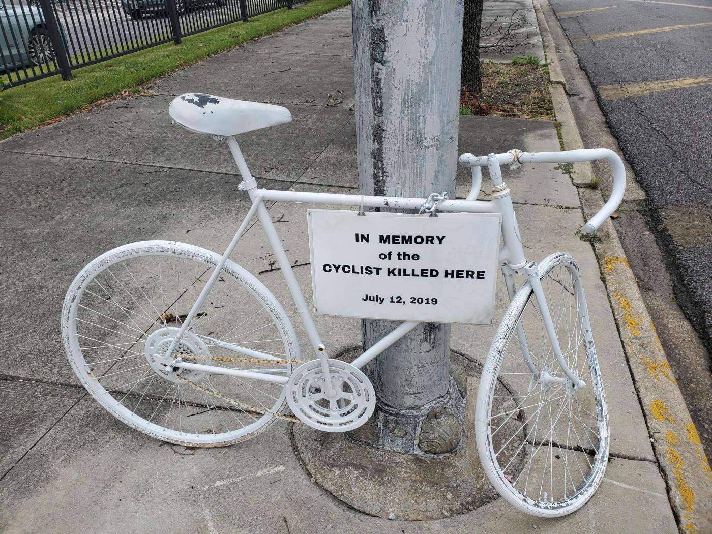 ghost bike near post office