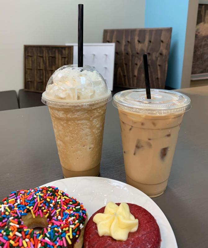 Birmingham, The Heavenly Donut Co, iced coffee