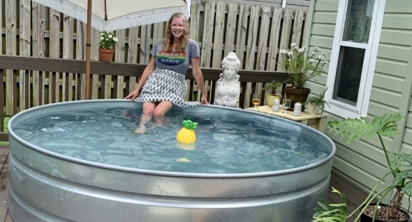 Local trend setters install stock tank pools. [Photos]