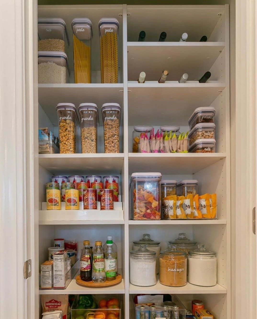 clear containers are inherently kid-friendly because they can see what's there