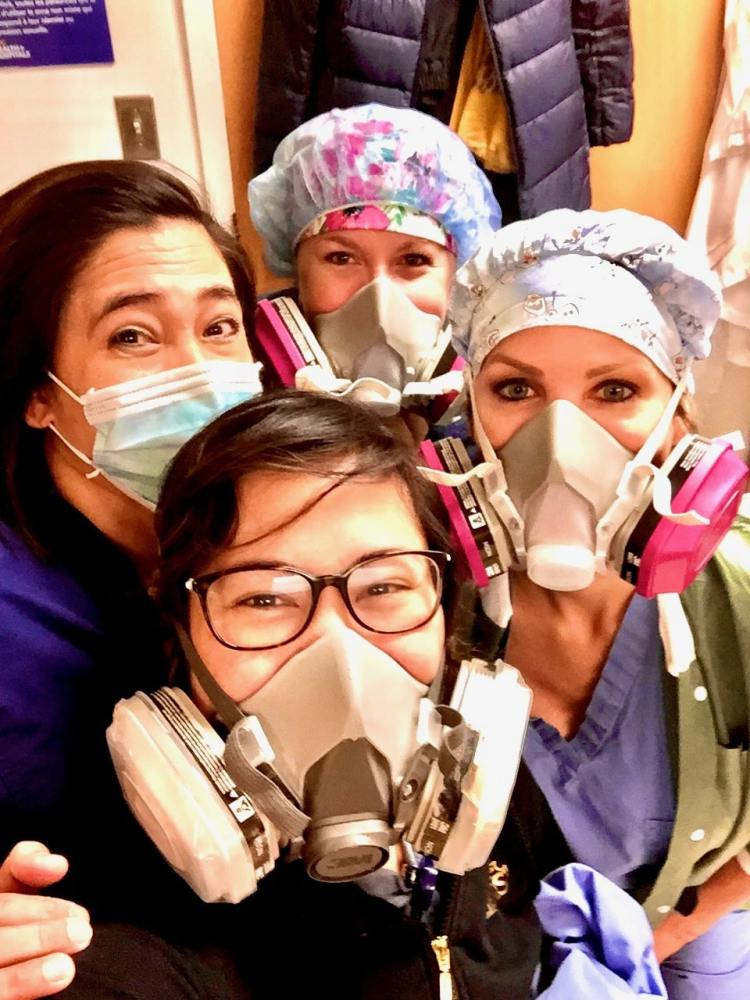 Nurses in NYC working on COVID-19