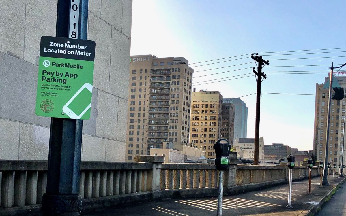 Quarters no longer required. You can now pay for parking in Birmingham with an app
