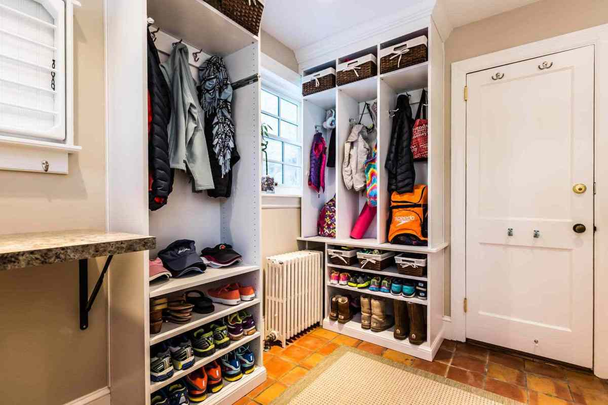 a mudroom for working from home in Birmingham
