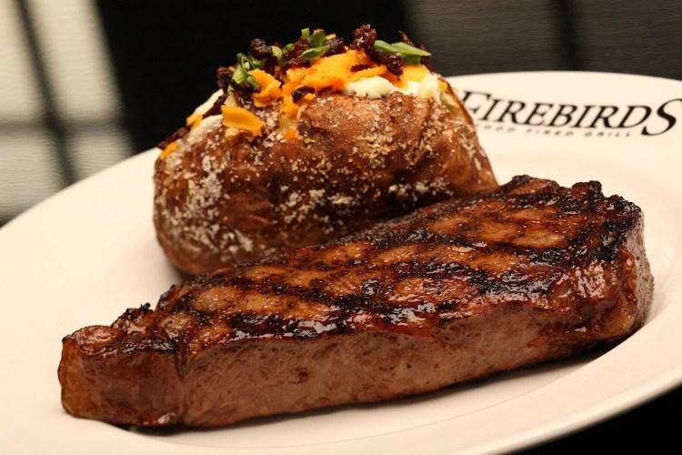 Birmingham, Firebirds Wood Fired Grill, steak