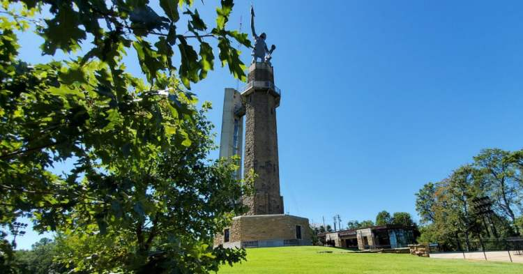 The Vulcan statue at Vulcan Park and Museum
