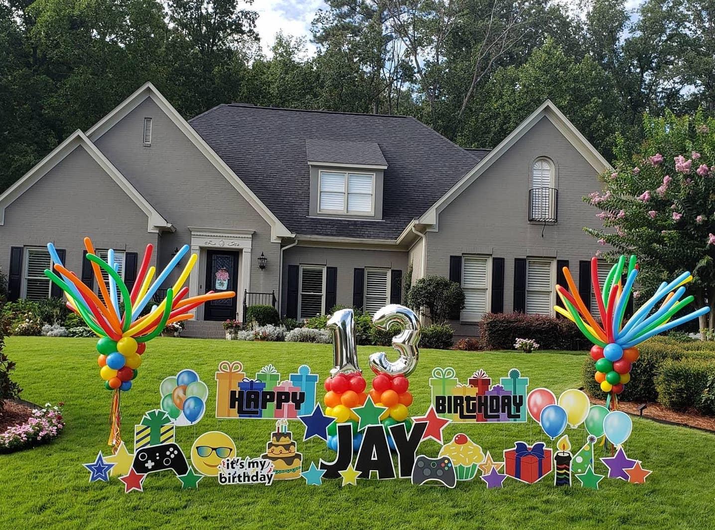Birmingham, The Rainbow Balloon Company, yard signs