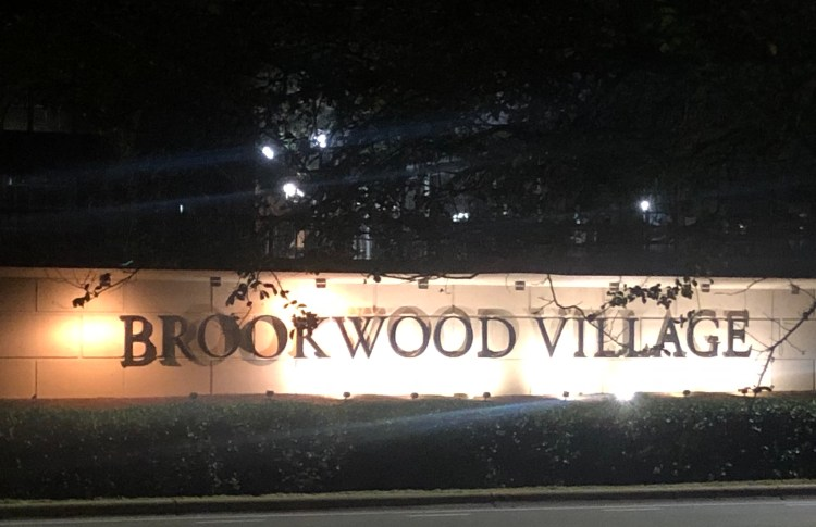 Brookwood Village Sign