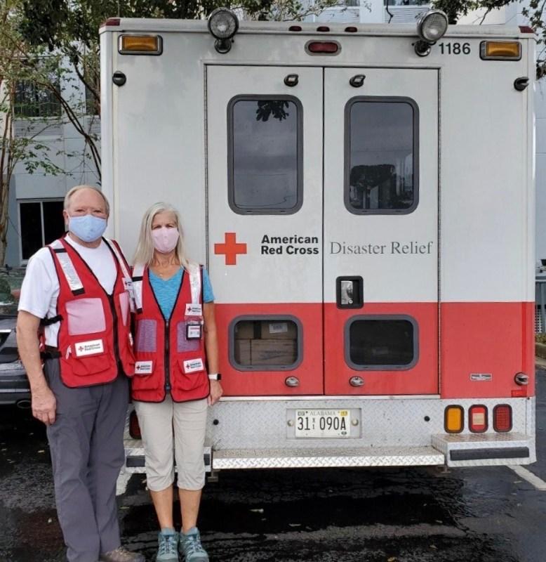 Two American Red Cross volunteers in Birmingham, Alabama