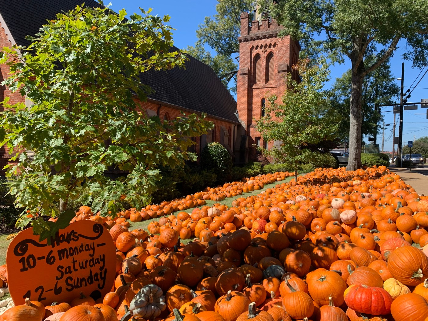 Pumpkin Patch at St. Peter's Episcopal Church in Oxford