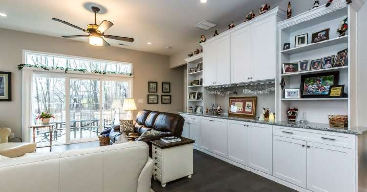 A home organized with built-ins from Closets by Design and also holiday decorations - you can get busy decluttering now