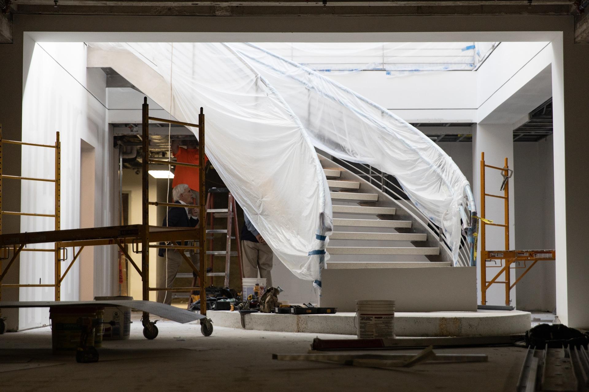a escadaria em o edifício Greyhound