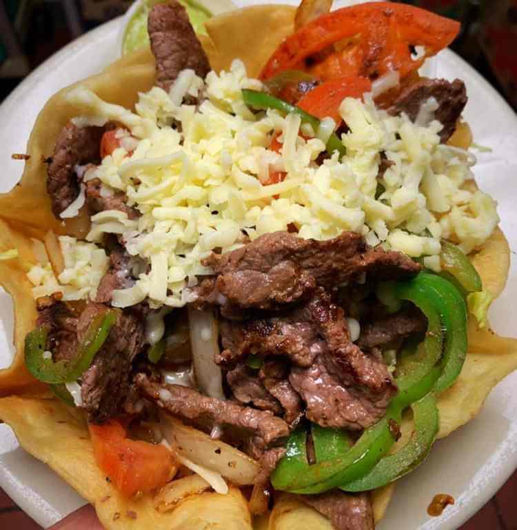 Taco salad at Maya Mexican