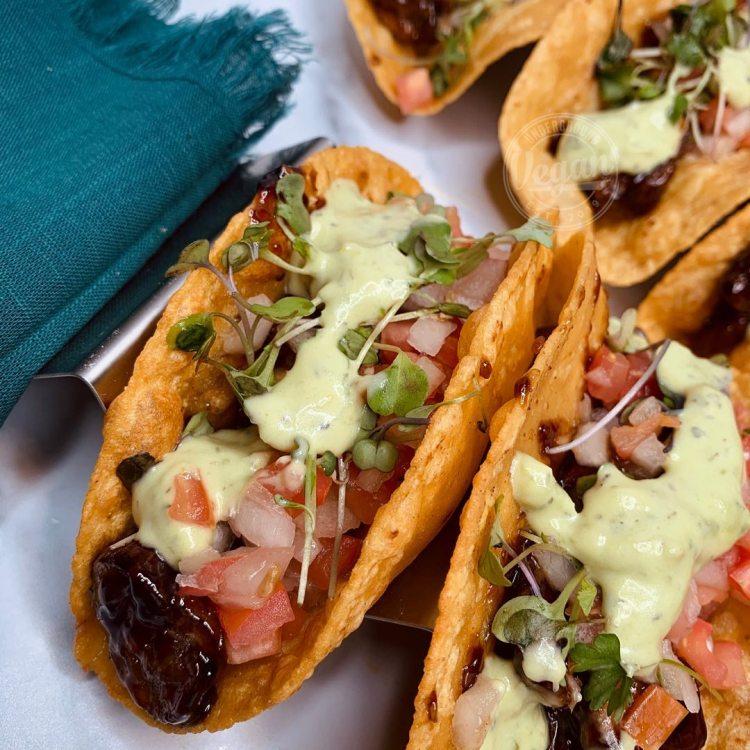 Vegan mushroom tacos from Underground Vegan