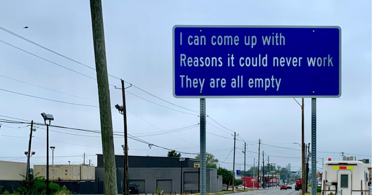 Roadside haiku in Birmingham, AL
