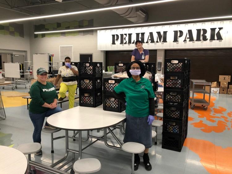 Pelham Park, food distribution