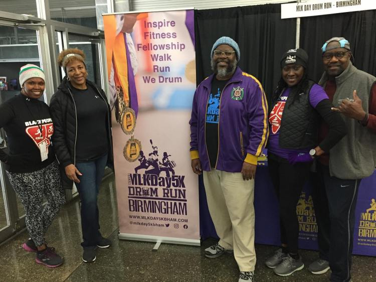 MLKDay Virtual 5K Drum Run Birmingham team