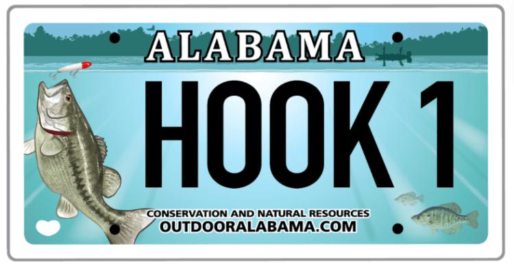 Alabama Fishing car tag