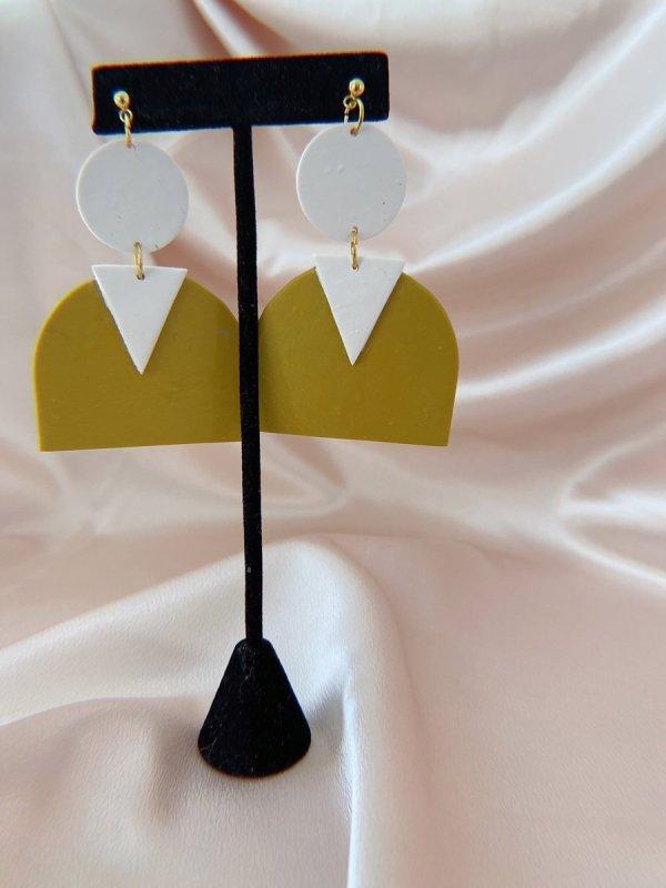 Polymer clay earrings from Studio 264 in Birmingham