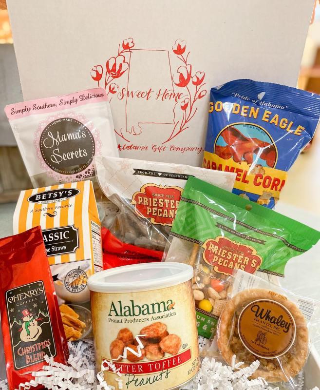 Gift box with Alabama foods