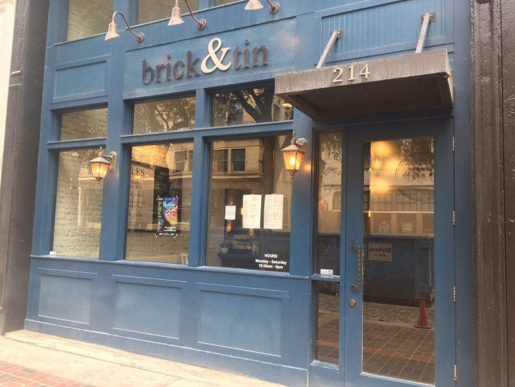 Brick and Tin downtown was one of the local spots that closed in 2020