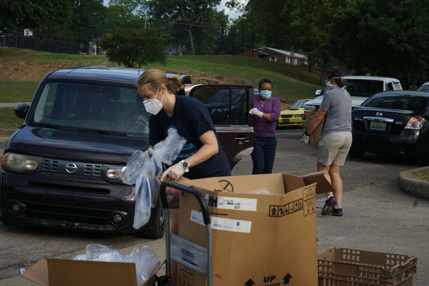 Drive through food bank with GBM