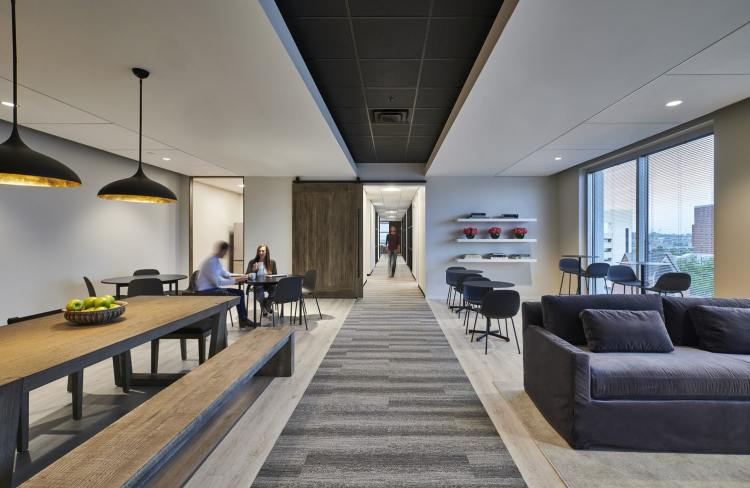 hallways are intentional connectors in Birmingham's offices of the future