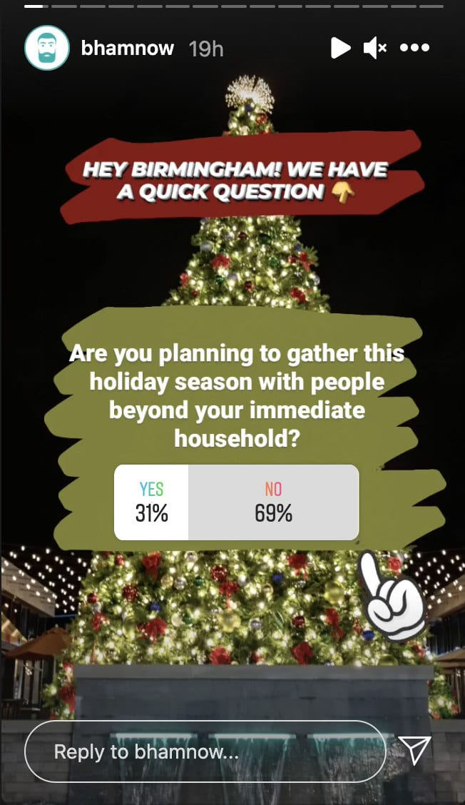 Bham Now holiday poll, will you stay home or gather with others?
