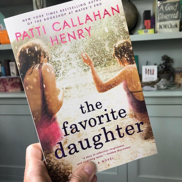 The Favorite Daughter novel in front of bookcase - gifts for book lovers