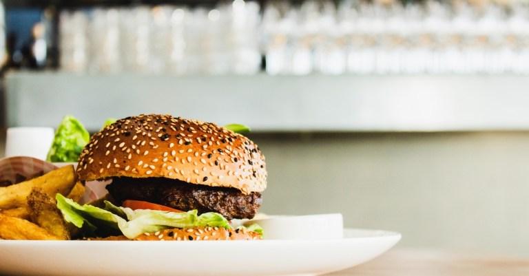 burger on plate