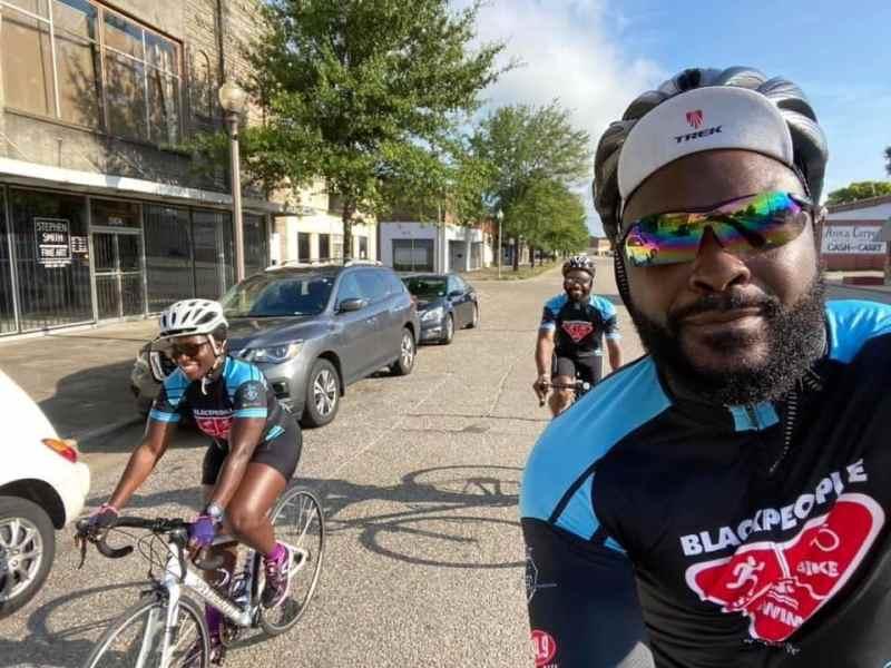 Black People Run Bike and Swim biking together, workouts