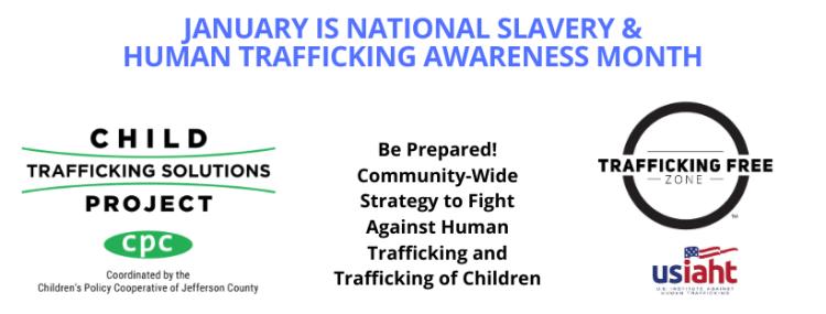 National Slavery & Human Trafficking Awareness Month