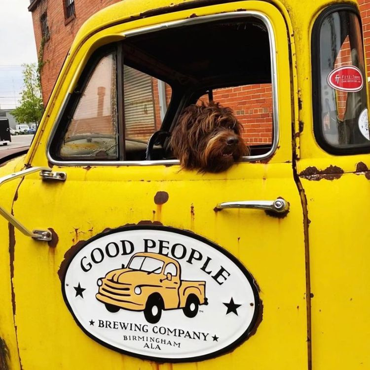 Outdoor dining in Birmingham at Good People Brewing Company