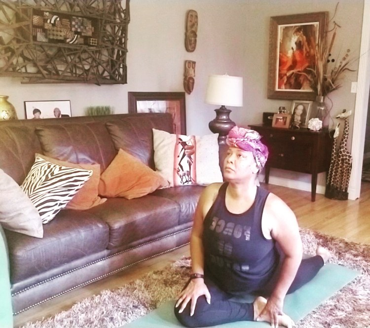 Kim Richardson, one of several Black women yoga teachers