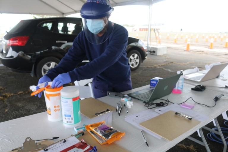 COVID Vaccine site at BHM airport