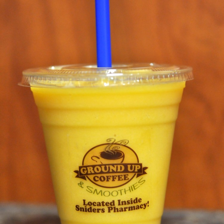 Orange smoothie from Ground Up Coffee & Smoothies - places to get breakfast in Chelsea