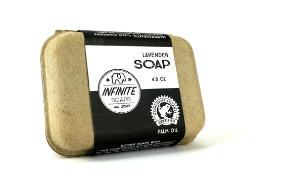 Lavender soap from Infinite Soaps