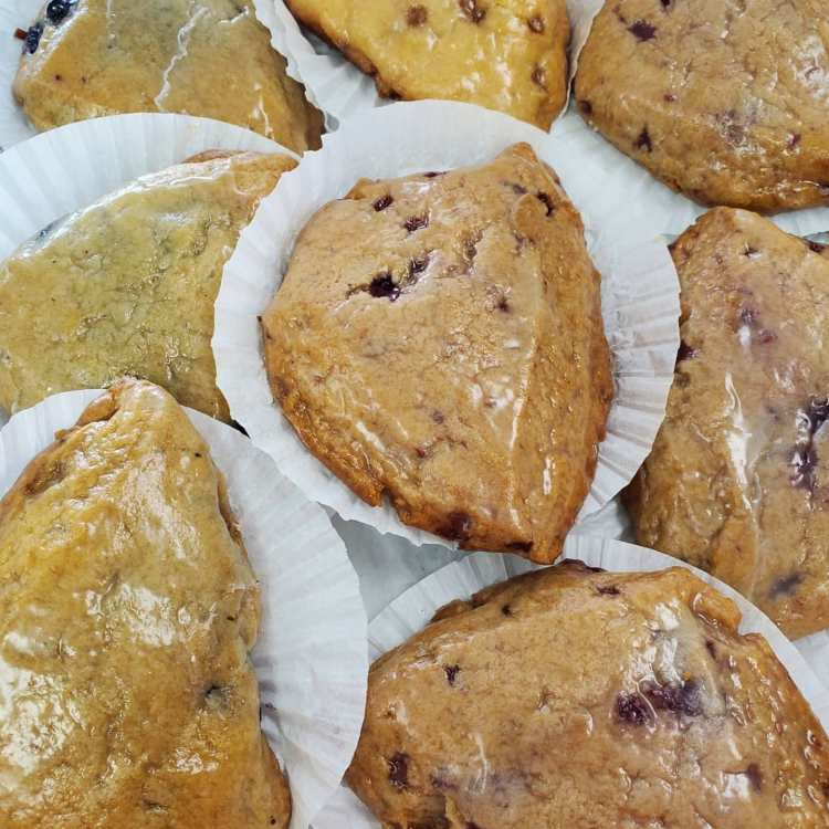 Glazed scones from Tee's Cakes & Pastries - places to get breakfast in Chelsea