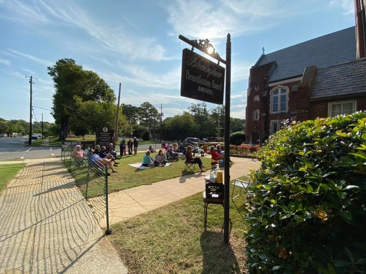 Avondale UMC outdoor Easter services in Birmingham