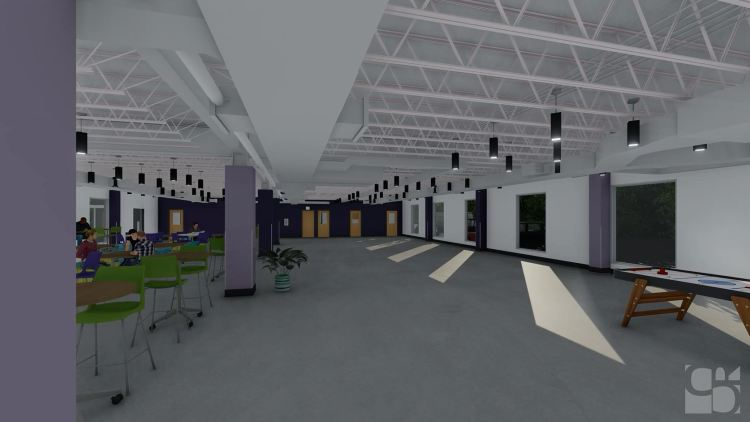 the future cafeteria at Magic City Acceptance Academy