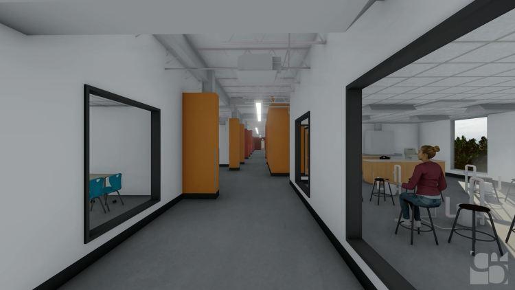 a future hallway at MCAA